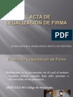El Acta de legalización de firma