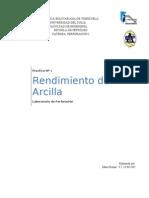 Informe 1. Rendimiento de Arcilla