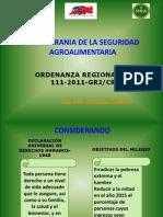 Ordenanza Regional 111