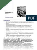 Popper Karl - La Teoria Dei Tre Mondi