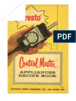 Presto Control Master Appliances Recipe Book