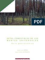 Libro Setas Comestibles de Los Montes Universales