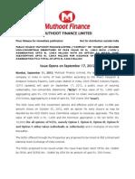 Muthoot Finance Ltd 110912