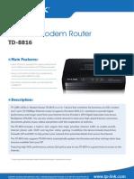 TD-8816 V7 Datasheet