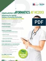 National Health IT Conference Advert - Sarah Amani