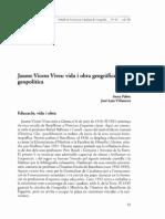 Jaume Vicens Vives i la geopolítica
