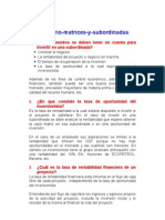 Cuestionario Matrices y Subordinadas