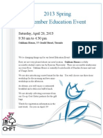 2013 Spring Member Education Event