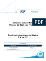 Manual de Usuario ALM Proceso de Costeo Del Producto