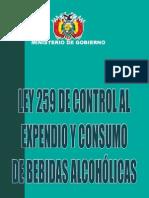 Ley Expendio de Bebidas Alcoholicas