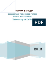 Safety Audit of Delhi University by Parivartan - The Gender Forum of Kirori Mal College, DU