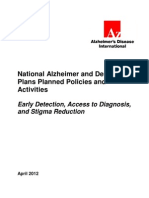 National Alzheimer and Dementia Plans