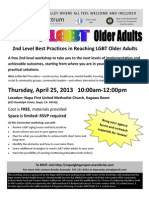 2nd Level LGBT Older Adults April 25, 2013