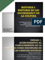 Cronograma de Sesiones y Exposiciones Historia I