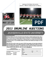 Drumline Audition 2013a