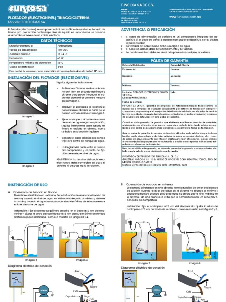 Flotador Electronivel Tinaco Cisterna