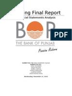 Bank of Punjab Final Balance Sheet Analysis