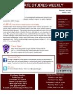 Graduate Studies Weekly - February 28, 2013