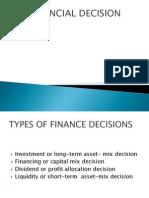 Financial Decission
