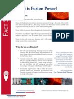 Fusion Fact Sheet 2013