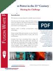 Fusion Power White Paper - Executive  Summary