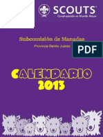 Calendario SCMBJ 2013