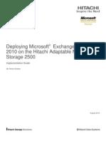 Deploying Microsoft Exchange Server 2010 on the Hitachi Ams 2500