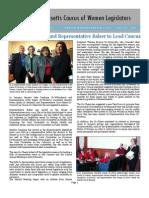 Massachusetts Caucus of Women Legislators Winter 2013 Newsletter