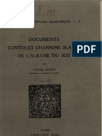 Documents contes et chansons slaves de l'abanie du sud