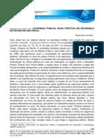 OBSERVATÓRIO DE SEGURANÇA PÚBLICA. BOAS PRÁTICAS EM SEGURANÇA NO ESTADO DE SÃO PAULO.