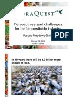 Perspectivas y Retos Para La Industria de Los Bioplaguicidas