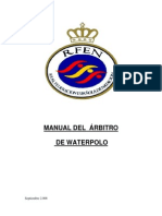 MANUAL DEL  ARBITRO DE WATERPOLO DE RFEN 2006