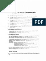 Diabetes Info OSCE Sheet