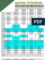 Kindergarten.schedule