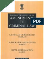 Justice Verma Committee (JVC) Report