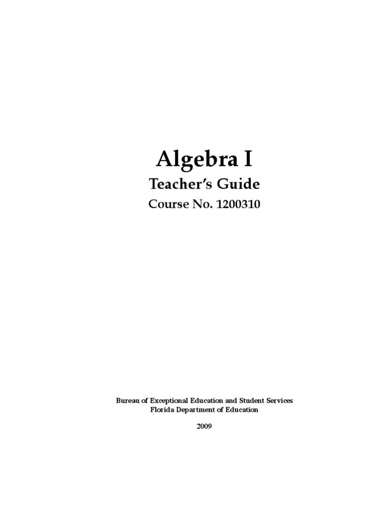 Workbooks prentice hall algebra 1 practice and problem solving workbook answers : Algebra I - Teacher's Guide | Educational Assessment | Fraction ...