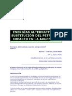 ENERGÍAS ALTERNATIVAS Y SUSTITUCIÓN DEL PETRÓLEO