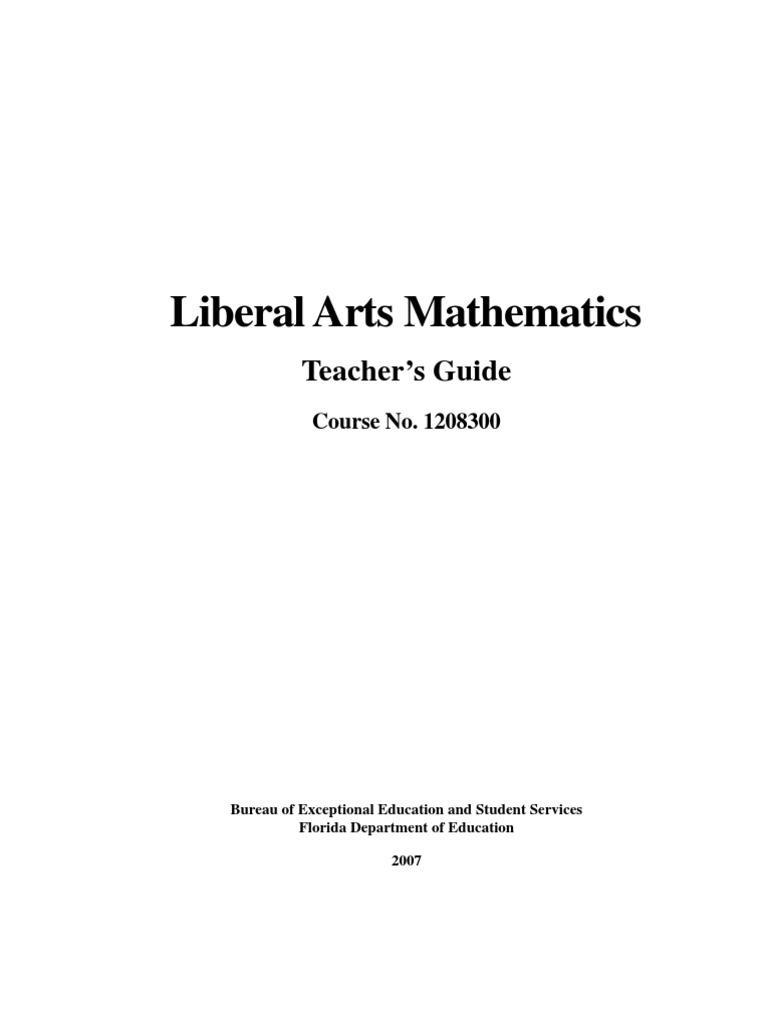 liberal arts mathematics teacher s guide fraction mathematics