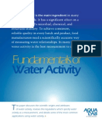 Fundamentals of Water Activity