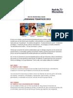 Chaski Programas Temáticos 2013