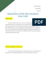 dssc solar cells