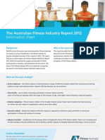 Fitness Australia - The Australian Fitness Industry Report 2012 (Information Sheet)