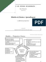 MODELOS ENSINO E APRENDIZAGEM-AS DIFERENTES PERSPECTIVAS (RP)