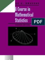 A Course in Mathematical Statistics 0125993153