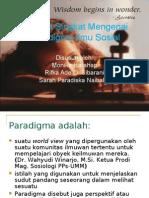 Analisis Singkat Mengenai Paradigma Ilmu Sosial
