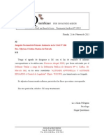 Carta de Presentacion Para El Juzgado