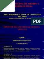 Diapositvas Seminario Reglamento Tasaciones Caja Piura