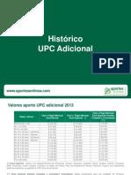 20130101 Tabla Valores de UPC Adicional