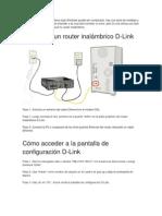 Configurar Router Inalambrico