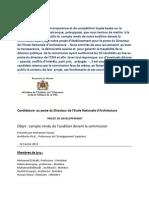 Ecole Nationale d'Architecture  de Rabat - Audition de  chaoui mohamed pour le poste du Directeur.pdf